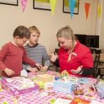 Voor de gelegenheid had KomKids een lokaal omgebouwd tot kinderopvang